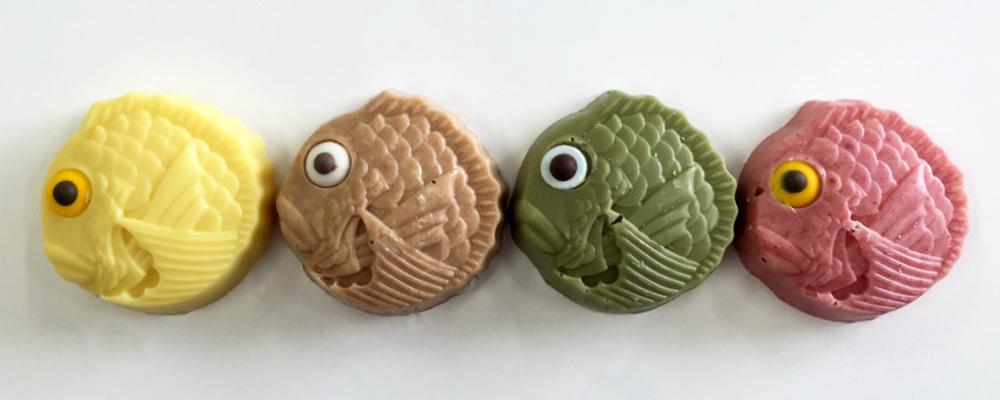 鯛4色造形チョコ